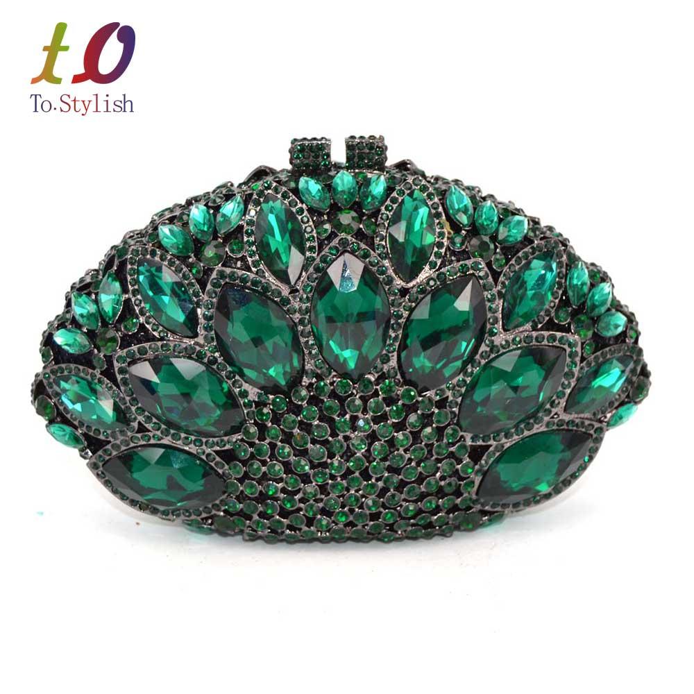 ФОТО Newest Red stylish women evening bag Luxury Rhinestone clutch bag crystal handbags party purse wedding bag pochette Purse SC106