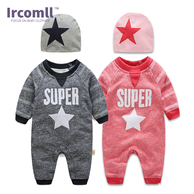 Ircomll Top Quality Fashion Baby Boys Clothes Long Sleeves Super Star Baby Rompers 2018 Autumn Spring Kids Clothing Bebe Bodie baby care top top