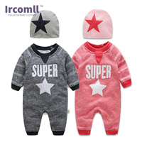 Ircomll Top Quality Fashion Baby Boys Clothes Long Sleeves Super Star Baby Rompers 2018 Autumn Spring Kids Clothing Bebe Bodie