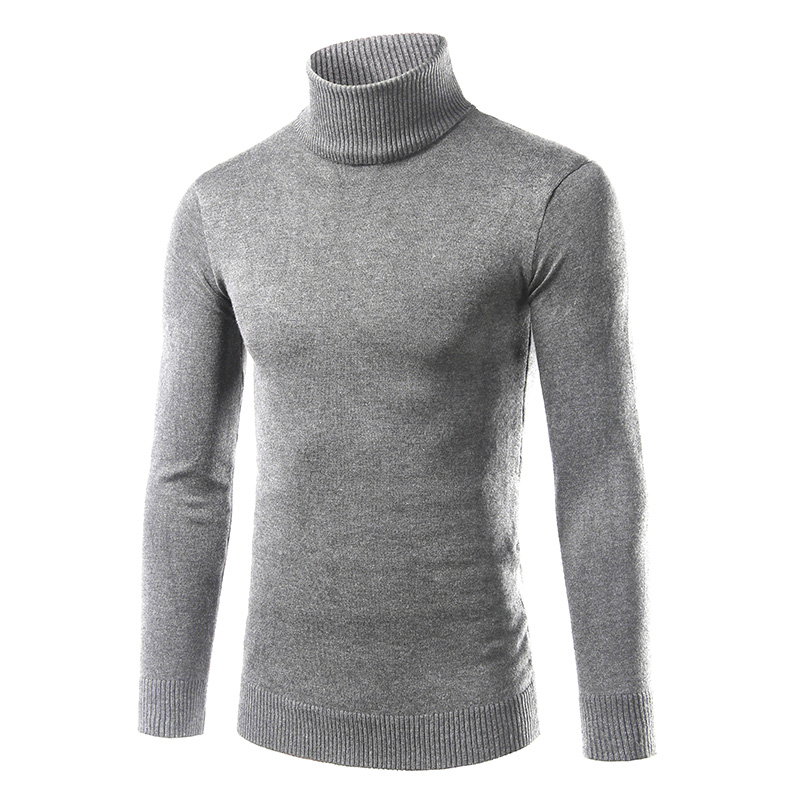 Autumn Winter Warm Sweaters For Men Turleneck Computer Knitted Pullovers Solid Basic Thicken Sweater Plus Size M-3XL MQ22