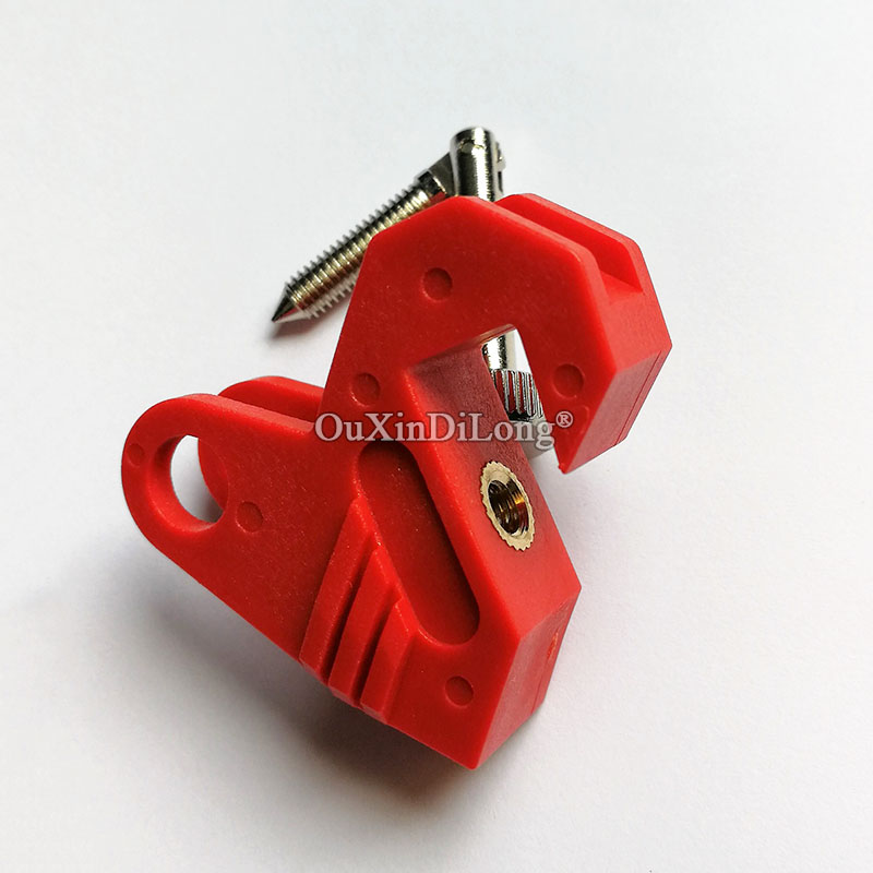 5PCS Rugged Nylon Circuit Breaker Lockout MCB Lock ,Toggle Safety Lock, Tool-Free JF1632