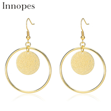 Innopes Woman Pendant Round Earrings Jewelry European and American Fashion Vintage Bohemian Tassel