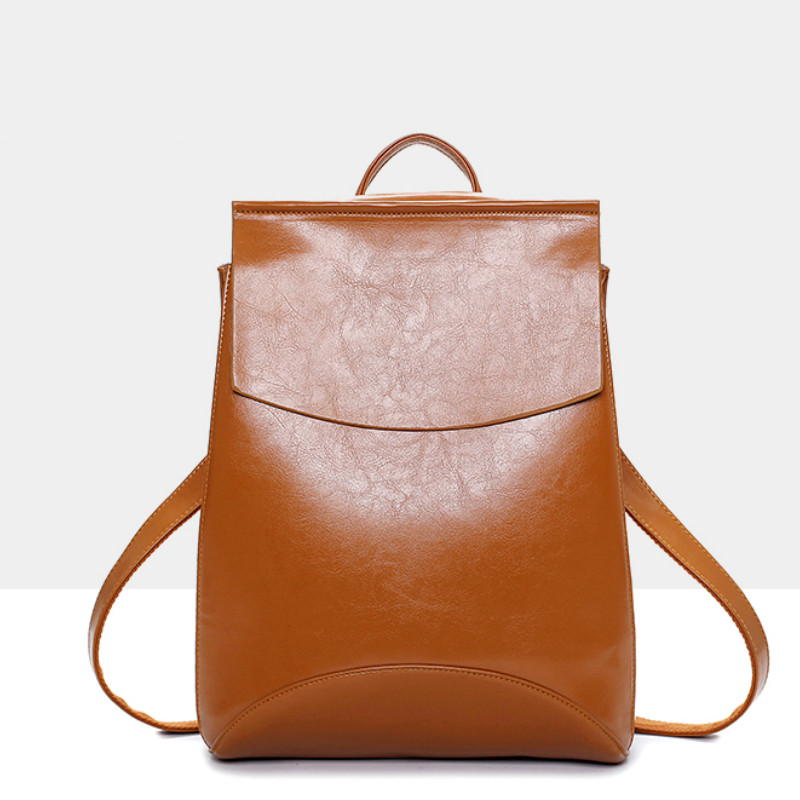 Fashion Pu Leather Korean Style Women Backpacks Casual