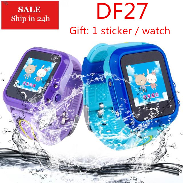 Smarcent DF27 GPS IP67 Waterproof Kids Smart Watch Tracker SOS Call Phone Baby Safe Smartwatch Wristwatch Pedometer Wrist ...