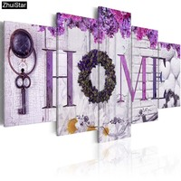 Home Sweet Home 3D DIY Diamond Painting 5PCS Multi Pictures Combination Embroidery Mosaic Cross Stitch Home