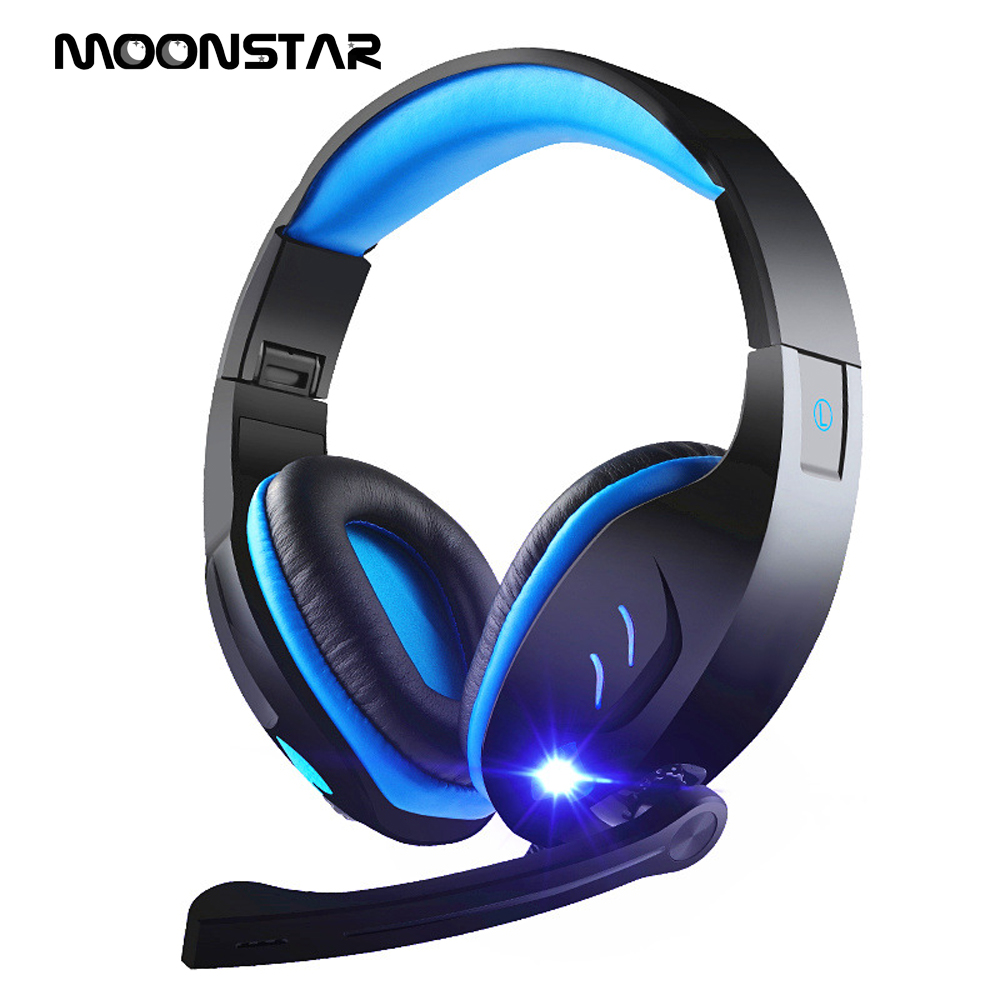 High quality Deep Bass Computer Game Headphones Gaming Headset with HD microphone LED Light for computer PC Gamer high quality gaming headset with microphone stereo super bass headphones for gamer pc computer over head cool wire headphone
