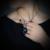 Dark Blue Crystal Collar Colgante Chapado En Oro de Joyería de Moda Regalo CN209