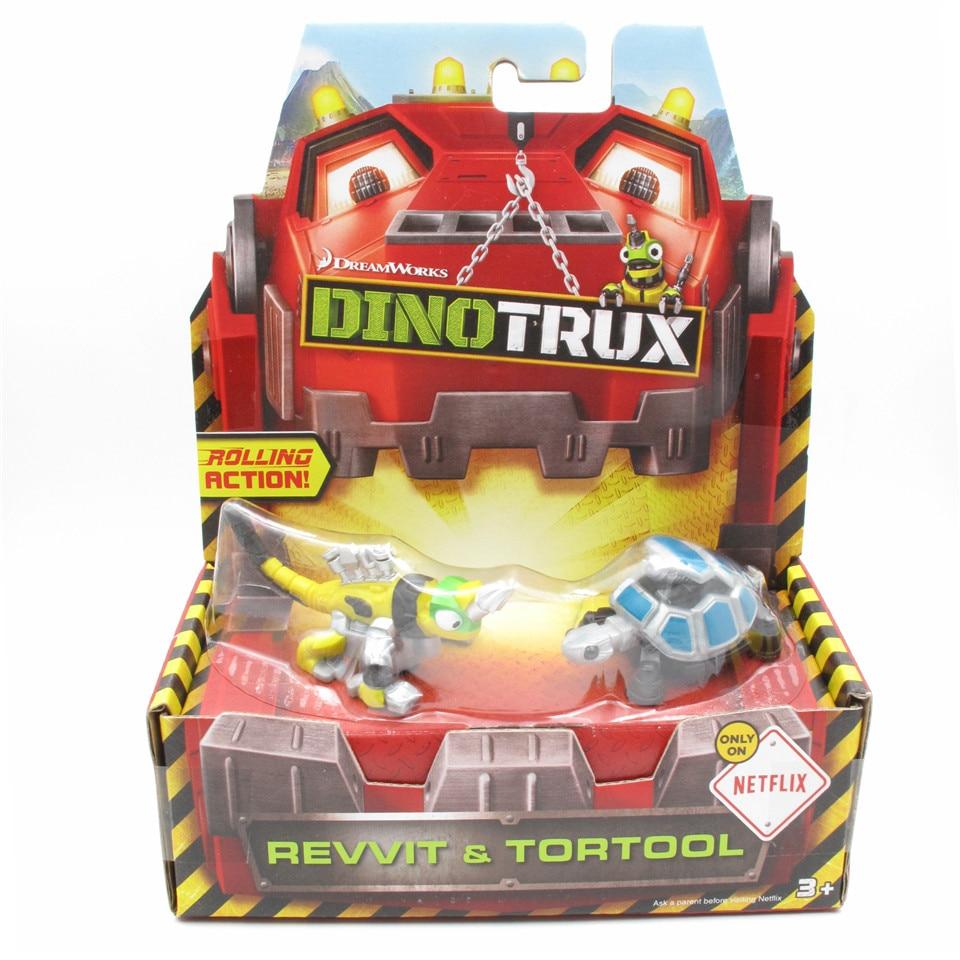 Dinotrux caminhão brinquedo carro revvit e tortool dinossauro brinquedos modelos de dinossauro crianças presente mini brinquedos de crianças