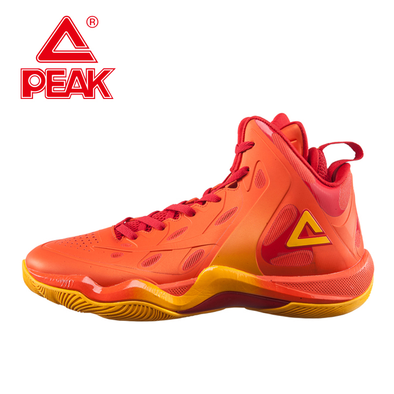 PEAK SPORT CHALLLENER II Men Basketball Shoes FOOTHOLD Tech Competitions Sneaker Breathable High-Top Athletic Boots EUR 40-48 peak sport speed eagle v men basketball shoes cushion 3 revolve tech sneakers breathable damping wear athletic boots eur 40 50