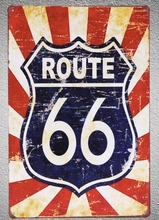 1 pc Route 66 US Road highway Tin Plate Sign wall plaques Man cave vintage Dropshipping metal Poster