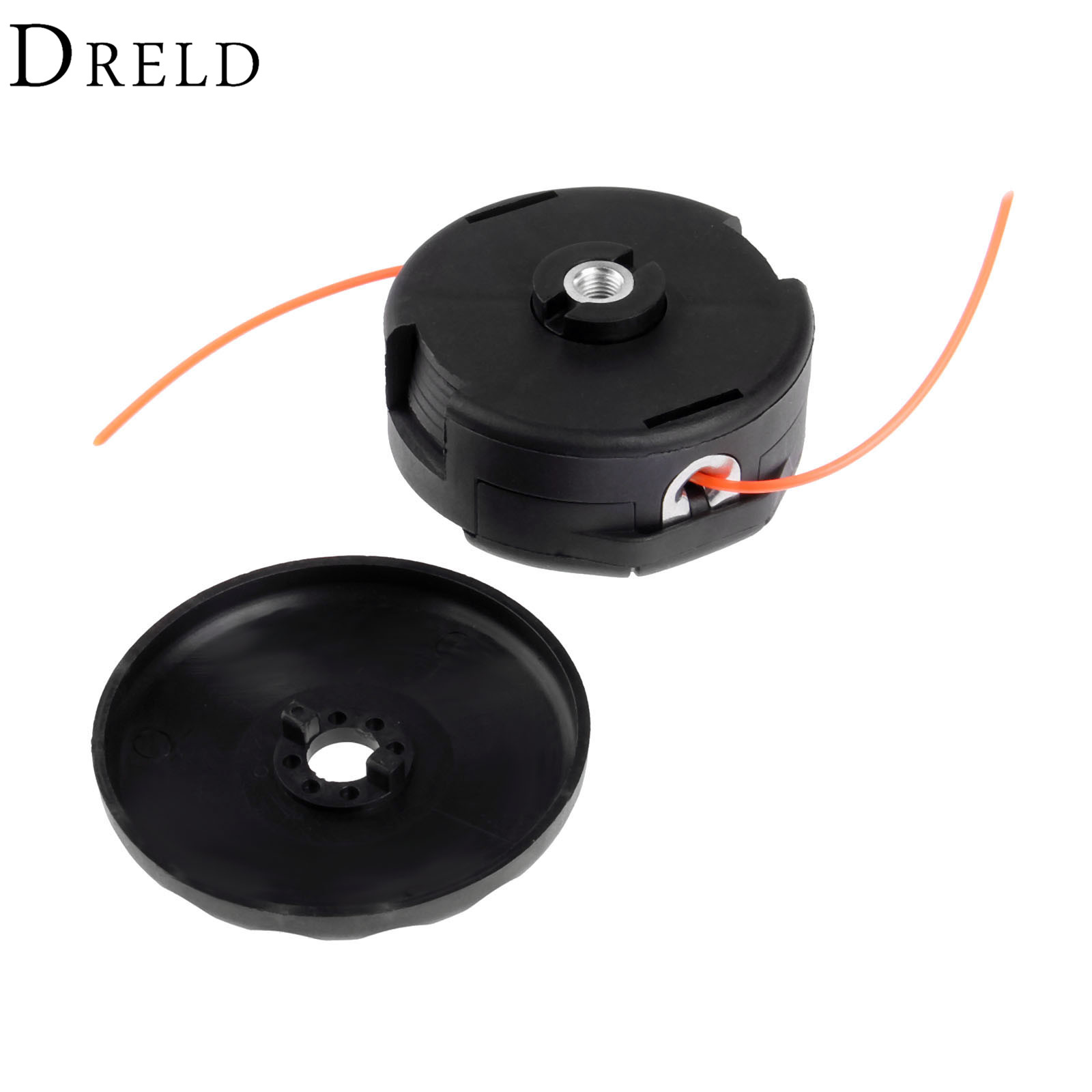 DRELD Black Speed Feed 400 Universal String Trimmer Head Adaptor M10*1.25LH Female with 2.4mm Trimmer Line Garden Tool Parts