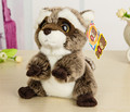 Бесплатная Доставка 18 СМ Прекрасный Маленький Енот Плюшевые Игрушки Куклы Чучела Животных Игрушки Для Детей Детей Игрушки Рождество и День Рождения подарки