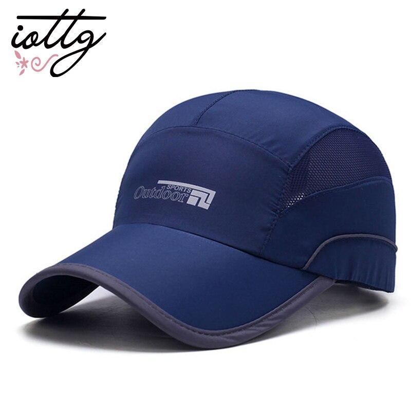 IOTTG Summer Quick Dry Baseball Cap Running Golf Caps Sports Sun Hats Lightweight Ultra Thin Mesh Cap For Men Women