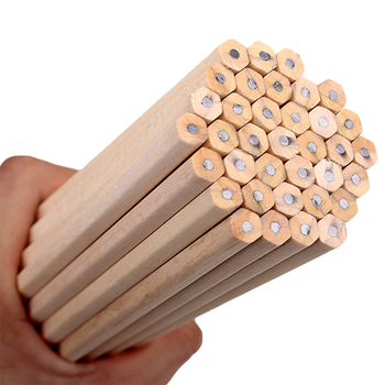 10PCs/lot Eco-friendly Natural Wood Pencil HB Black Hexagonal Non-toxic Standard Pencil Cute Stationery Office School Supplies Standard Pencils