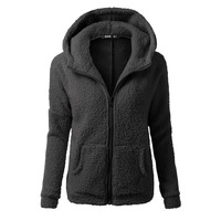 Autumn Winter Women Hoodies Fleece Hooded Long Sleeve Zipper Thicken Coat Outwear Sudaderas Jacket Sweatshirts Lady
