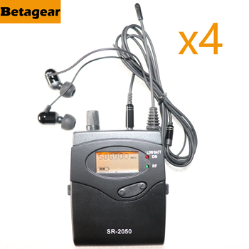 Leicozic 4PCS Receiver For SR2050IEM Personal In Ear Monitor System Stage Monitoring EW300 572-603/606-614Mhz/740-771/798-829Mhz