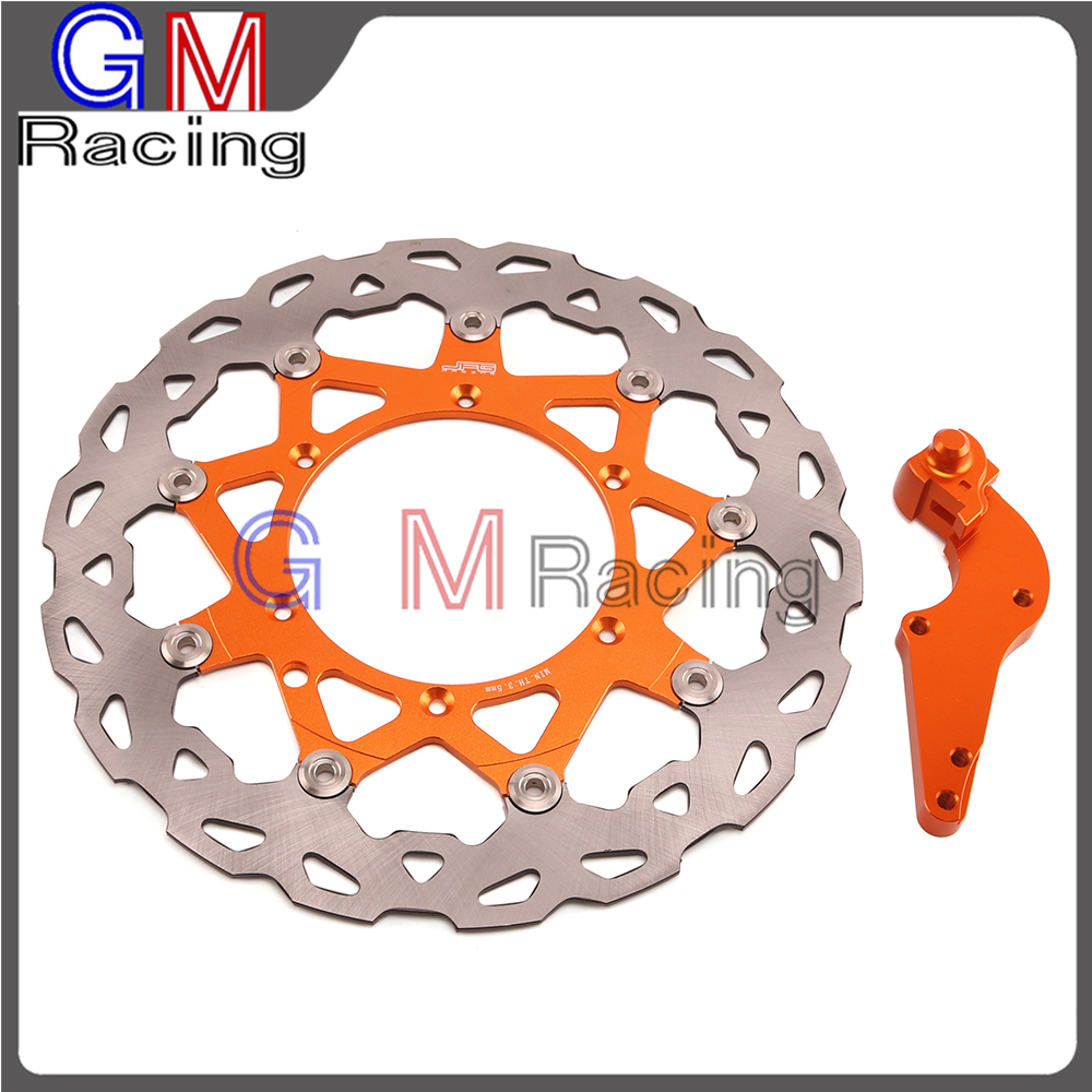 Motorcycle 320mm Floating Front Brake Disc Rotor Bracket For KTM SX SXF XC XCW XCF XCFW EXC 125 144 150 200 250 300 350 400 450 motorcycle front and rear brake pads for ktm egs lse exc 400 all models 1998 2006 black brake disc pad