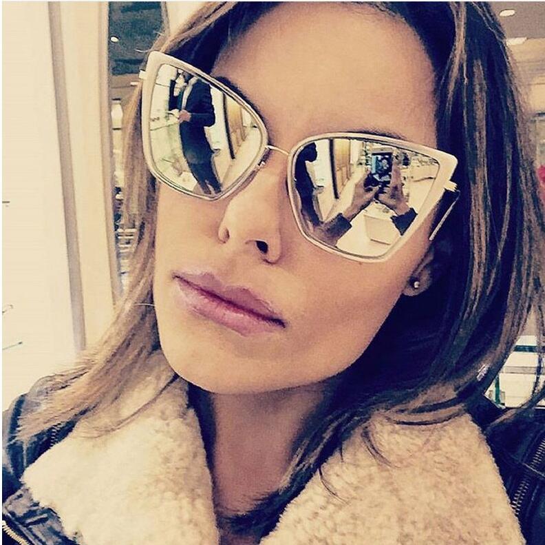 2017 Frauen Mode Cat Eye Sonnenbrille Frauen Marke Designer Retro Sonnenbrille Damen Vintage Gläser Oder Oculos De Sol Feminino