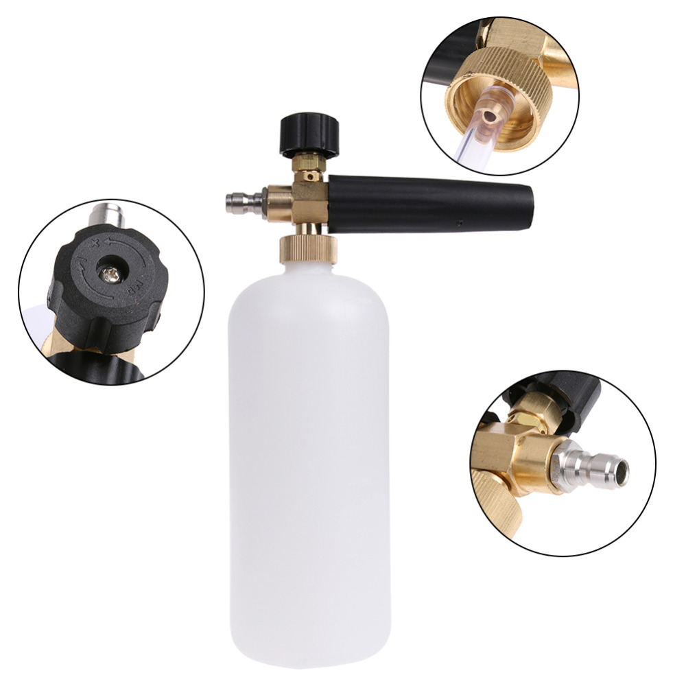 VODOOL Adjustable Snow Foam Car Wash Gun Auto Car Washing Washer Bottle Sprayer 1L High Pressure For Karcher K2 K3 K4 K5 K6 K7