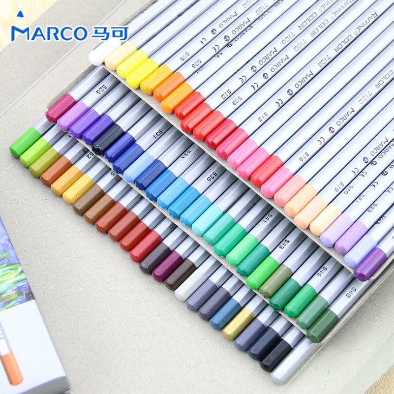 24/36/48/72 Marco Raffine Colored pencils Drawing Pencil Oil Base Non-toxic Pencils Set for Artist/Art Fan/Colouring Lover marco raffine fine art colored pencils 24 36 48 colors drawing sketches mitsubishi colour pencil for school supplies