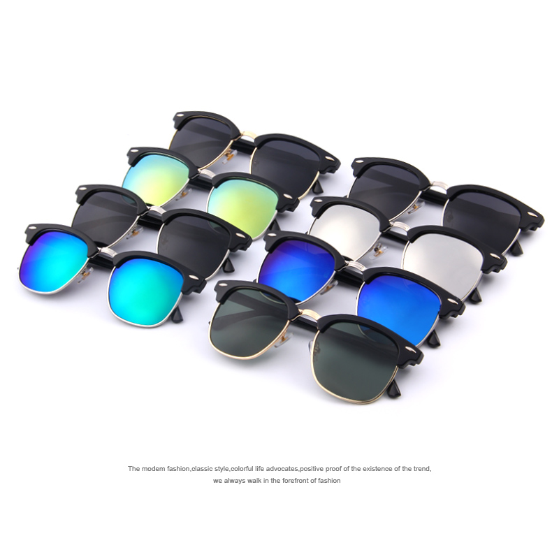 MERRY'S Men Retro Rivet Polarized Sunglasses 2016 Classic Brand - Aksesori pakaian - Foto 6