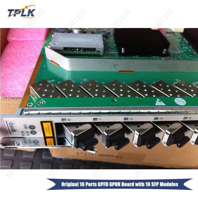 D'origine 16 PON Port GPON Conseil GPFD avec C + SFP approprié 16 ports GPON OLT Carte D'interface pour MA5680T MA5683T MA5603T MA5608T