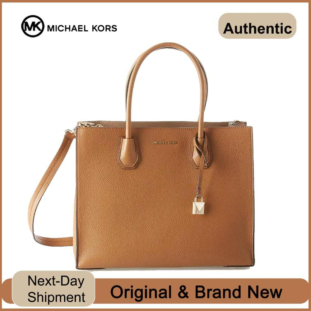 25f88ff480aa Detail Feedback Questions about Michael Kors Mercer Ladies Large Leather  Tote Handbag (Acorn/Gold) Luxury Handbags For Women Bags Designer by MK on  ...