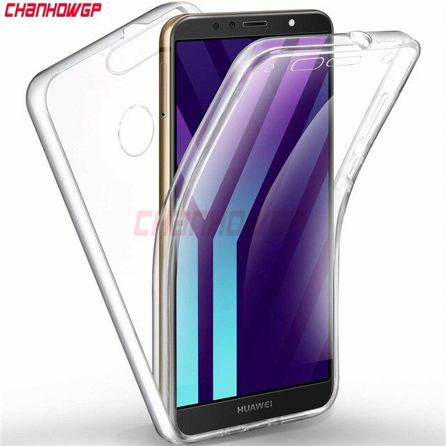 Double Clear Case for Huawei P20 P9 P8 Lite 2017 Y5 Y6 Y7 Prime 2018 Nova 2i 3e P Smart Mate10 Lite Honor 7A 7C Pro 8 Lite Cover
