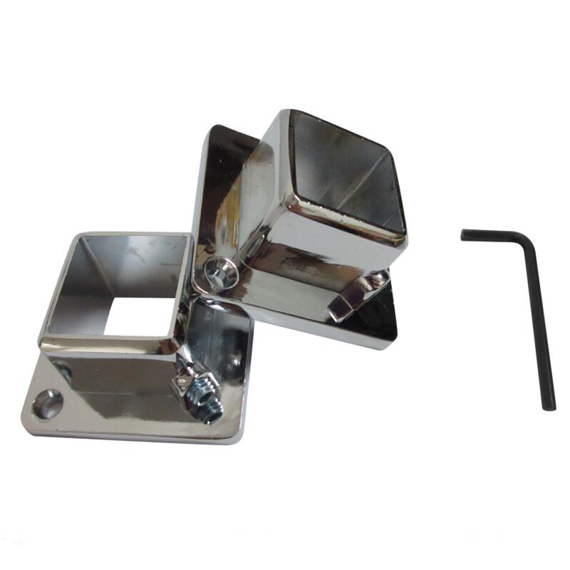 Clothes Rack Square Flange Seat 25*25mm Square Pipe Stainless Steel Tube Support Display Rack Fittings 4pcs