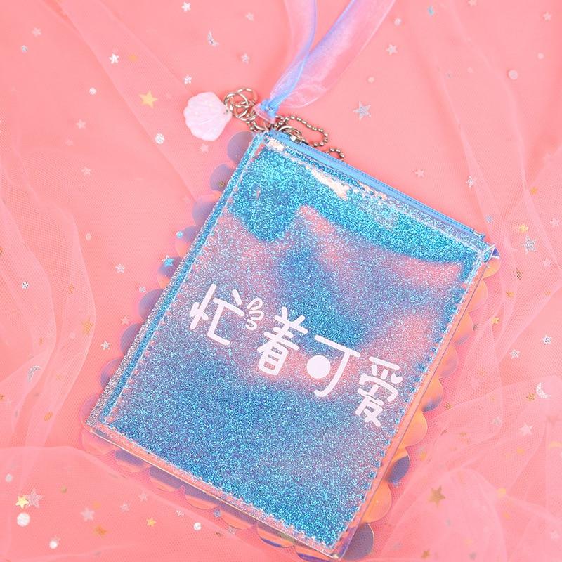 Kinder- & Babytaschen Verantwortlich 2019 Neue Spaß Chinese Brief Kleine Tasche Chic Mode Japan Stil Günstige Geldbörse Für Mädchen Bling Glitter Laser Frauen Münze Tasche Mit
