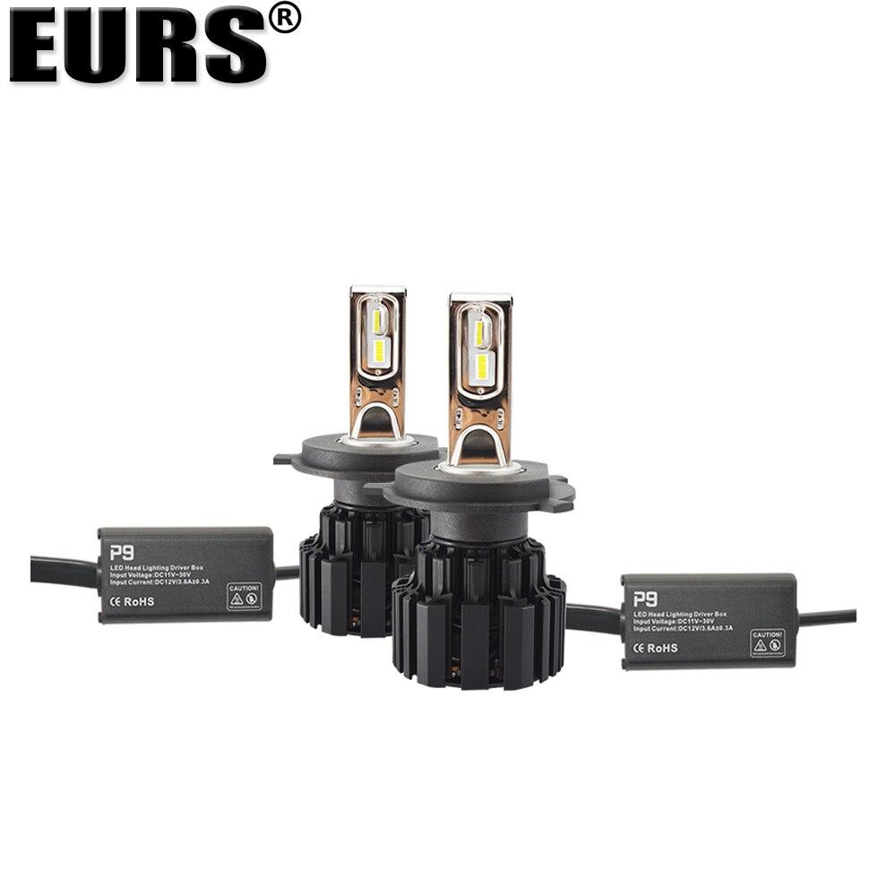 EURS Бесплатная доставка супер яркий P9 автомобильная светодиодная лампа для фары 100 Вт 13600lm фары 6000K H4 H7 H11 9005 9006 9012 фары автомобиля - 5