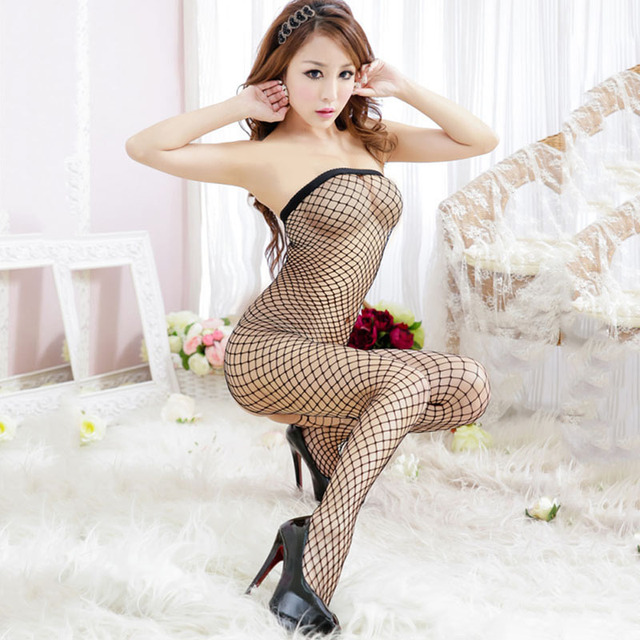 Women's Brand Sexy Body Suit Sexy Costumes Fishnet Bodystocking Body Stocking Sheer Nylon Bodystocking Erotic Sexy lingerie