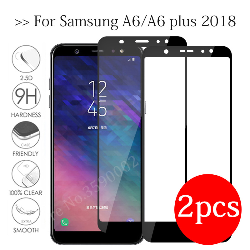 2pc Tempered Glass For Samsung Galaxy A6 Plus 2018 Screen Protector On The Galax A 6 A6+ A6plus 6a Protective Glas Safety Film