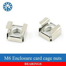 10PCS Stainless Steel 304 Quartet Floating Nut Card Nuts Floating Nut Cage Nuts M6