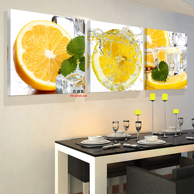 3 Panel Wall Art Painting Cuadros Picture Oil Paintings Modern Fruit ...