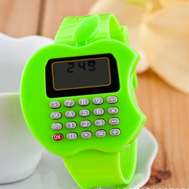 Child Watch Portable Calculator Watches Girls Boys Silicone Kids Watch Cute Mini