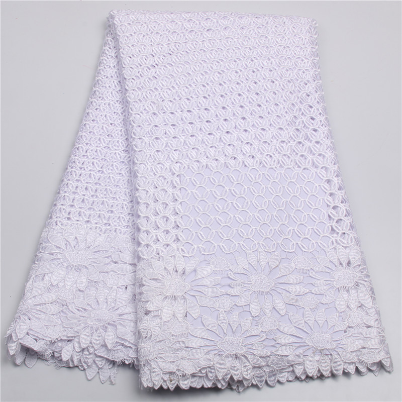 Hot sale white french lace fabric high quality beautiful for French lace fabric for wedding dresses