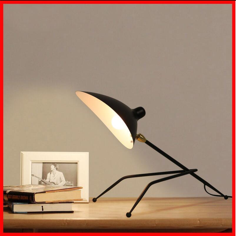 Серж черный муравей настольная лампа Nordic industrial чердак прикроватные office исследование настольная лампа творческий черный металл абажур наст...