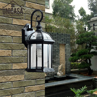 Modern Outdoor Lights Garden Pathway Antique Sconce Aluminum Vintage Country Lighting Glass Led Technology Of Wall Lamp