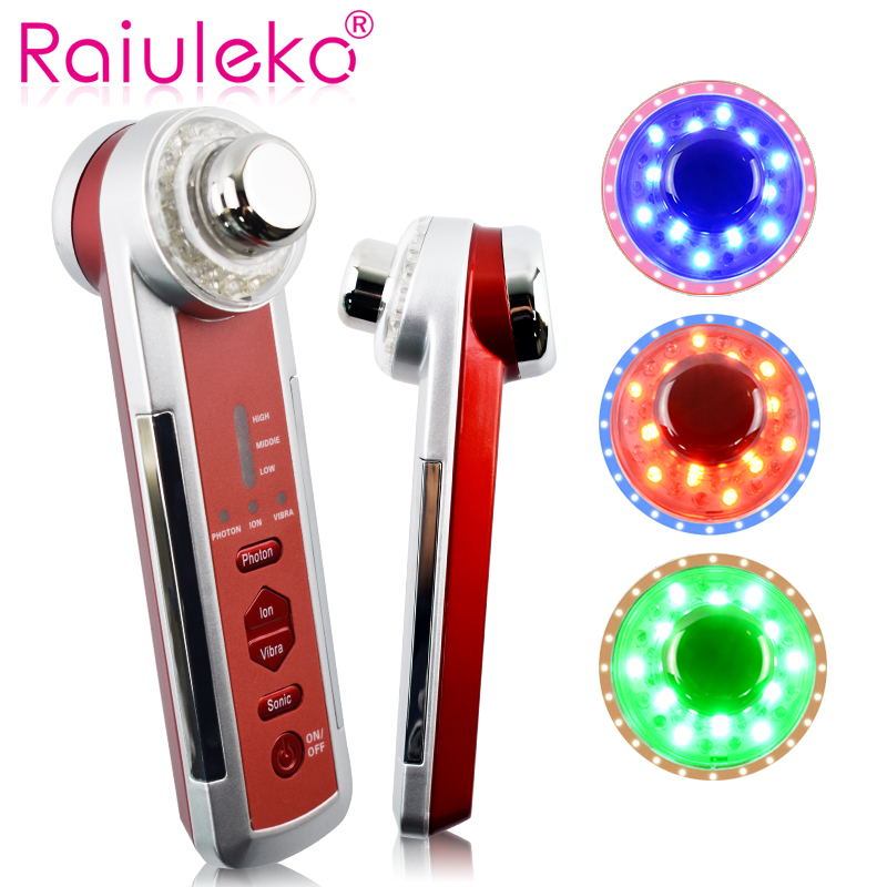 Led Light Facial Machine 4 In 1 Ultrasonic Photon Skin Rejuvenation Beauty Machine Light Therapy Anti Wrinkle Facial Massager retention in maxillo facial prosthodontics