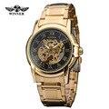 2016 original Vencedor Relogio masculinos de Ouro de aço inoxidável Marca de topo relógios homens marca de luxo Automático do relógio de pulso dos homens