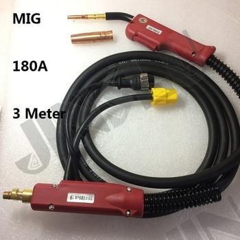 180A 3M 10 Feet MIG Gun Torch P200 MIG-200  Style MIG MAG Welding Torch Complete 1 set  SALE1 foxweld saggio mig 200