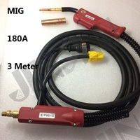 180A MIG Torch P200 MIG 200 Panasonic Type MIG MAG Welding Torch Complete 3M 10 Feet 1 set welding machine parts