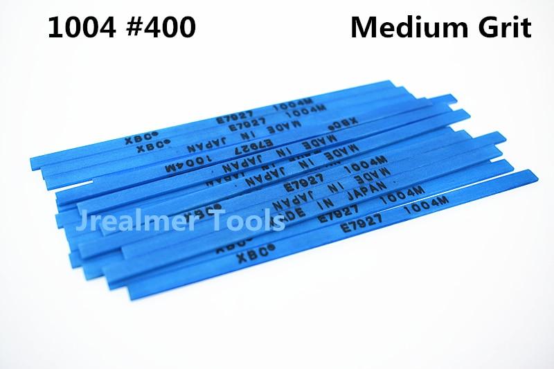 Jrealmer 10pcs XBC 1004 Blue Ceramic Fiberwhetstones Medium 400 1 4 100mm