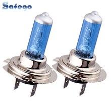 Safego 2pcs H7 halogen Headlight 100W H7 Led Xenon Bulb Car Light Warm White Auto Motorcycle Led Car Light Bulb 12V 100W PX26D