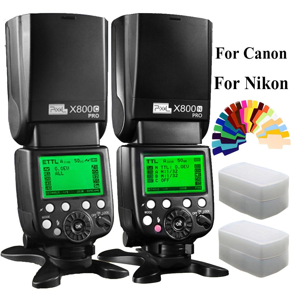 Pixel X800C X800N PRO 2.4G Radio LCD Display Wireless TTL HSS Flash Speedlight Professional Speedlite Flashgun For Canon Nikon