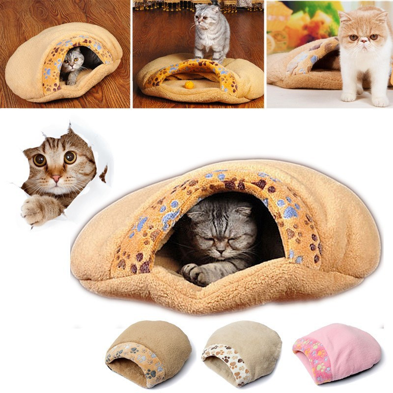 High Quality Cat Kitten Cave Pet Warm Winter Bed House Puppy Sleeping Mat Dog Pad Igloo Nest Pet Products Doggy Cushion Basket