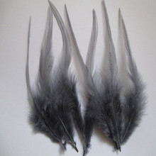 Pheasant-Neck-Feathers Hat-Decoration Clothing DIY Gray Wholesale 100pcs Pretty 4-6-Inches/10-15cm