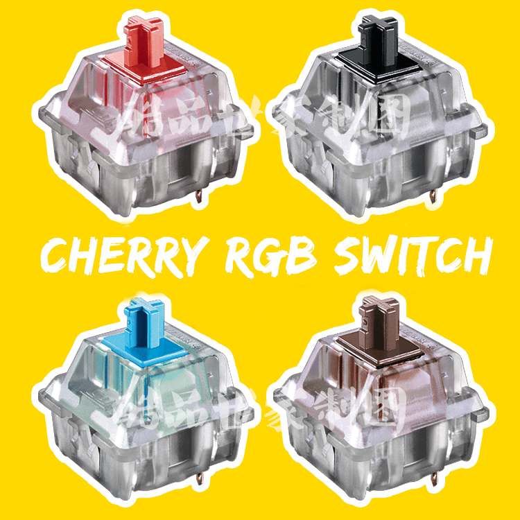 Cherry Rgb Switch 3pin Blue Red Black Brown Silver For Custom Mechnical Keyboard Xd64 Xd60 Eepw84 Gh60 Tada68 Rgb 87 104 Zz96