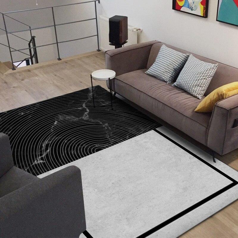 Nordic Black White Large Carpet Area Rugs Creative Living